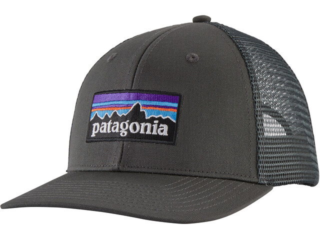Patagonia P-6 Logo Gorra de Camionero, gris